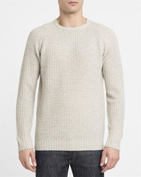 Revolution Ecru 6435 Wool Blend Knit Round Neck Sweater White
