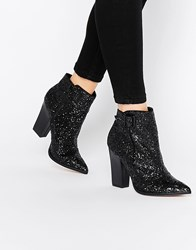 Little Mistress Harlow Glitter Ankle Boots Black