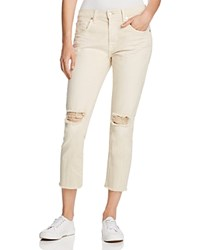 7 For All Mankind Ankle Straight Jeans In White Sand Compare At 178