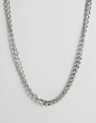 Asos Chunky Chain Necklace In Silver Silver
