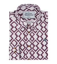 Vivienne Westwood Zig Zag Print Formal Shirt Male White