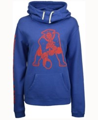 Junk Food Women's New England Patriots Logo Funnel Hoodie Blue