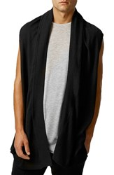 Men's Topman Sleeveless Open Front Cardigan