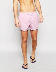Brave Soul Retro Swim Short In Pink Red