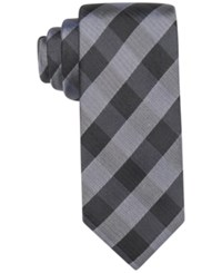 Ryan Seacrest Distinction Men's Anaheim Gingham Slim Tie Only At Macy's Purple