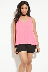 Forever 21 Plus Size Strappy Top Hot Pink