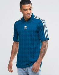 Adidas Originals T Shirt Jersey In Vintage Style Aj7865 Blue