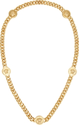 Versace Gold Curb Chain Medusa Necklace