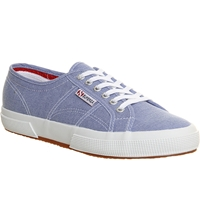 Superga 2750 Canvas Trainers Oxford Lt Blue