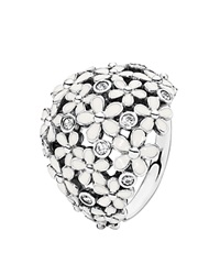 Pandora Design Pandora Ring Sterling Silver And Enamel Darling Daisy Bouquet White