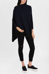 Rag And Bone Women S Button Neck Rib Poncho Boutique1 Navy