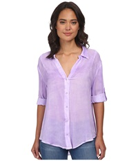 Gabriella Rocha Penny Button Up Top Lavender Women's Clothing Purple
