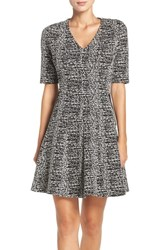 Gabby Skye Women's Knit Fit And Flare Dress