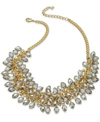Abs By Allen Schwartz Necklace Gold Tone Shaky Beaded Frontal Necklace