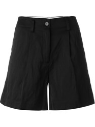 Forte Forte Front Pleat Shorts Black