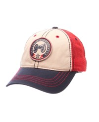 Zephyr Columbus Blue Jackets Roader Mesh Cap Red Natural Navy