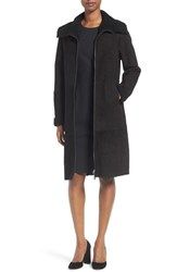 Boss Women's Soufy Genuine Shearling Coat With Drawstring Waist