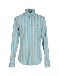 Carlo Chionna Shirts Turquoise