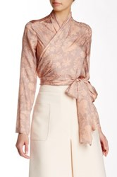 Jill Stuart Angel Silk Wrap Top Pink