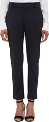 Barneys New York Worsted Straight Leg Trousers Md. Blue