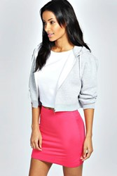 Boohoo Basic Bodycon Mini Skirt Lipstick