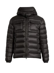 Moncler Valence Detachable Hood Quilted Down Jacket Black