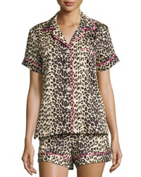 Bedhead Wild Thing Printed Shorty Pajama Set Leopard