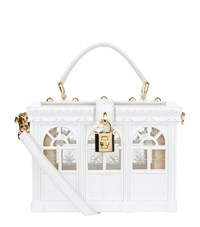 Dolce And Gabbana Greenhouse Padlock Top Handle Bag Female White