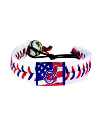Game Wear Cleveland Indians Stars And Stripes Bracelet Red White Blue