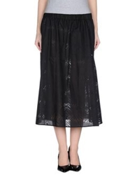 Cheap Monday 3 4 Length Skirts Black