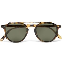 Garrett Leight California Optical Hampton 46 Tortoiseshell Acetate Optical Glasses With Clip On Uv Lense Tortoiseshell