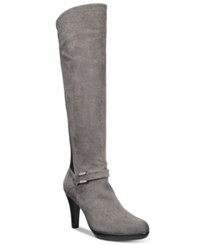 Alfani Viollah Tall Boots Only At Macy's Women's Shoes Steel