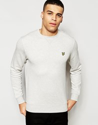 Lyle And Scott Sweatshirt With Eagle Logo In Grey Light Grey Marl