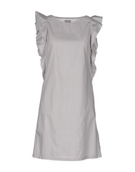 Douuod Dresses Short Dresses Women Light Grey