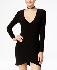 Xoxo Juniors' Lace Up Asymmetrical Bodycon Dress Black