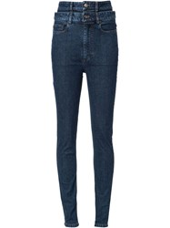 Y Project Stacked Skinny Jeans Blue