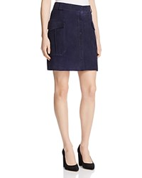 Whistles Romy Suede Skirt 100 Bloomingdale's Exclusive Blue