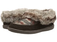 Woolrich Autumn Ridge Java Blanket Wool Women's Slippers Brown