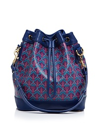 Liberty London Liberty Of London Argyl Bucket Bag Navy