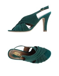 Nora High Heeled Sandals Green