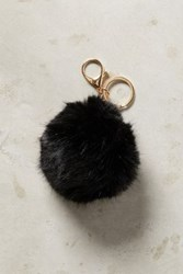 Anthropologie Fur Pom Keychain Black