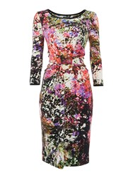 Pied A Terre Printed Jersey Tube Dress Multi Coloured