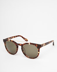 Vivienne Westwood Anglomania Round Bar Detail Sunglasses Brown