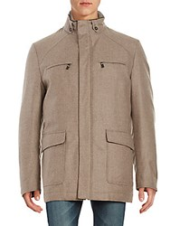 Corneliani Virgin Wool Cashmere And Silk Coat Cream
