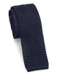 Pal Zileri Knitted Silk Tie Blue