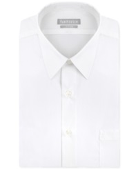 Van Heusen Fitted Poplin Solid Dress Shirt White