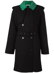 J.W.Anderson Studded Collar Trench Coat Black