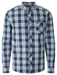 Lyle And Scott Check Cotton Shirt Navy