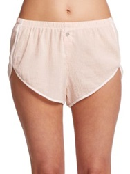 Skin Gauzy Cotton Shorts Light Pink