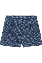 Marc Jacobs Printed Wool Twill Shorts Blue